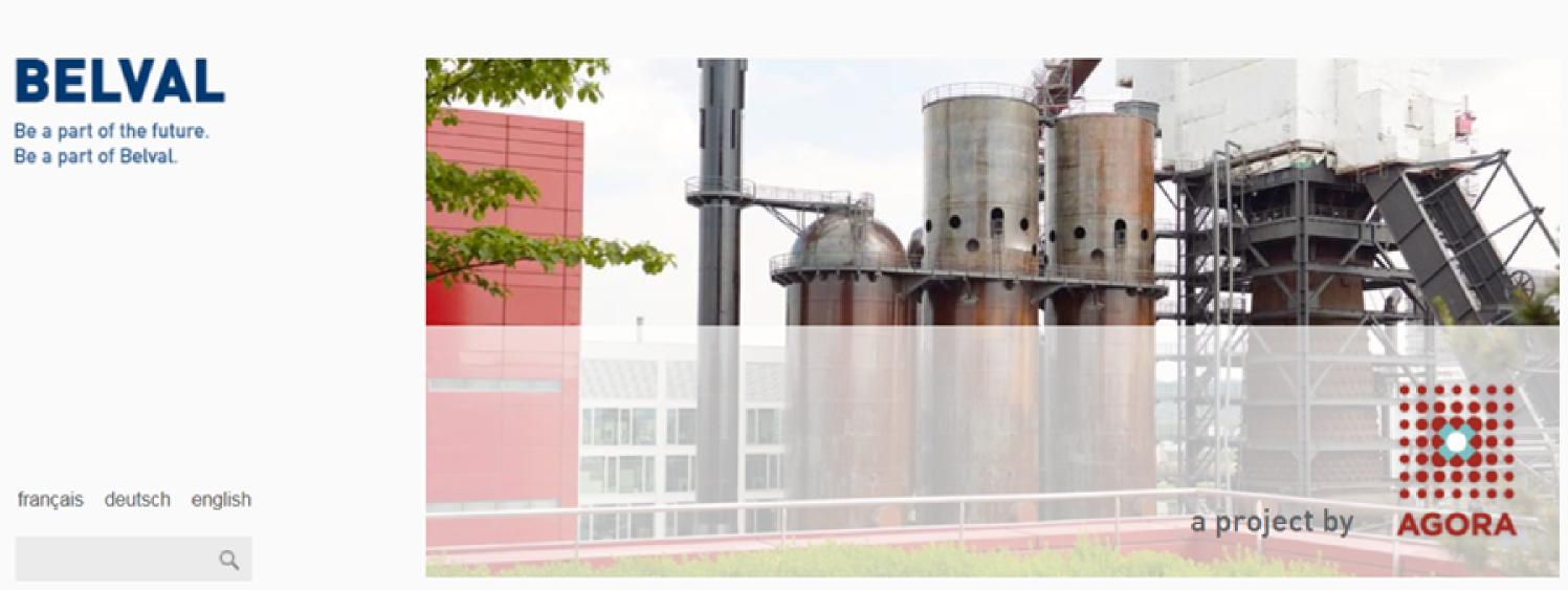 image du site internet de Belval a project by AGORA